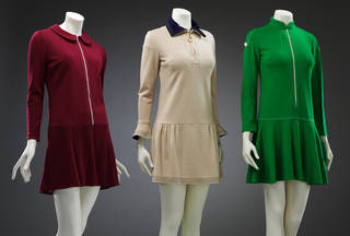Jersey dresses, Mary Quant, 1966 – 67, UK. Museum nos. T.354-1974, T.354-1974, T.79–2018. © Victoria and Albert Museum, London