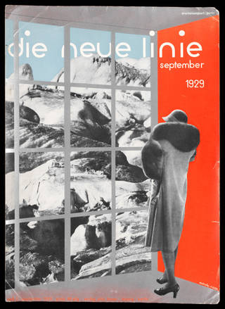 Proof of the cover to the first issue of Die neue Linie