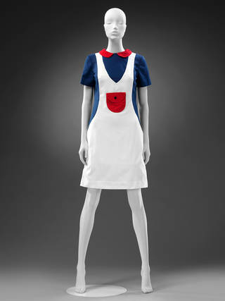 Minidress with 'Peter Pan' collar, Mary Quant's Ginger Group, 1967, England. Museum no. T.61–2018. © Victoria and Albert Museum, London. Given by Deborah Cherry