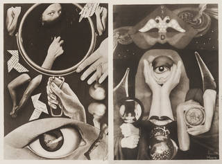 Photographs of a photo-collage taken from the book Aveux non Avenus, Claude Cahun and Marcel Moore, taken from a collage made 1930, printed 2004. Museum nos. E.714-2005, E.716-2005. © Victoria and Albert Museum, London