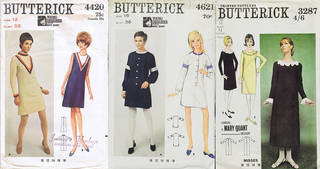 Selection of Butterick paper sewing patterns, young designer: Mary Quant. © Victoria and Albert Museum, London.