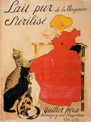 'Lait pur Stérilisé, de la Vingeanne', poster, T.A. Steinlen, 1894, France. Museum no. E.296-1921. © Victoria and Albert Museum, London