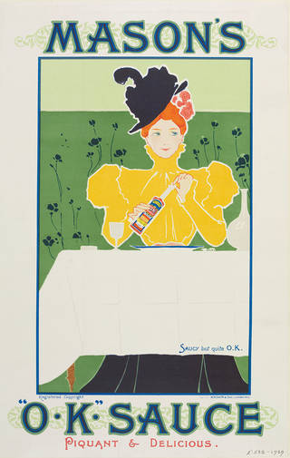Saucy but quite O.K., poster, unknown, about 1900, England. Museum no. E.538-1939. © Victoria and Albert Museum, London