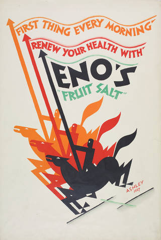 Eno's Fruit Salt, Ashley Havinden, 1927, UK. Museum no. CIRC.456-1971. © Victoria and Albert Museum, London
