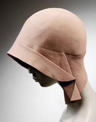 Light pink felt hat