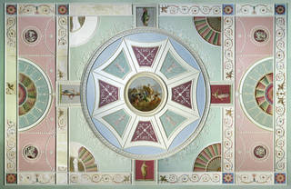 Photo of Adelphi ceiling, designed by Robert Adam, about 1771, London. Museum no. W.43:1 to 5-1936. © Victoria and Albert Museum, London