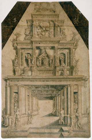 Photo of The Apotheosis of Henry VIII, probably designed and drawn by Robert Pyte, about 1546, London. Museum no. 3337. © Victoria and Albert Museum, London