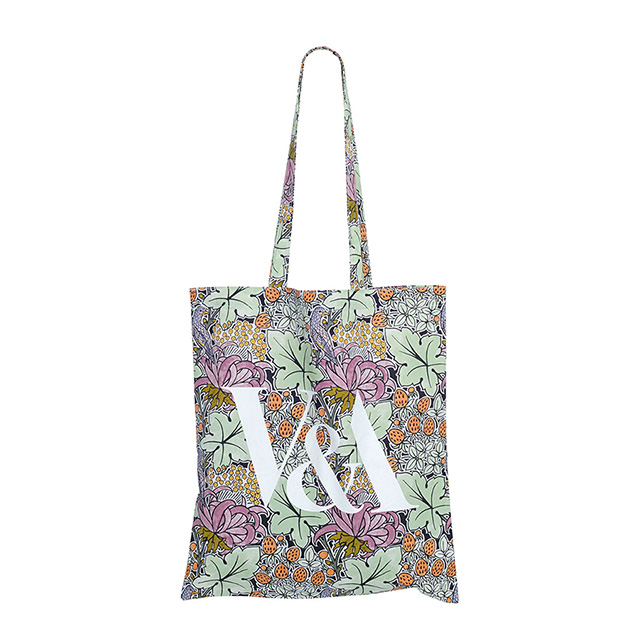 V&A Bird and Strawberries Tote Bag