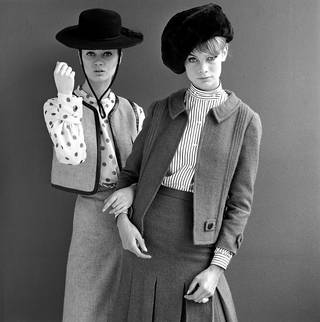 Jean Shrimpton and Celia Hammond in Mary Quant designs, photograph by John French for the Daily Mail, 1962, England. © John French/Victoria and Albert Museum, London
