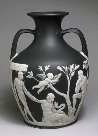 Photo of Copy of the Portland Vase, Josiah Wedgwood's factory, about 1790, Staffordshire. Museum no. 854-1882. © Victoria and Albert Museum, London
