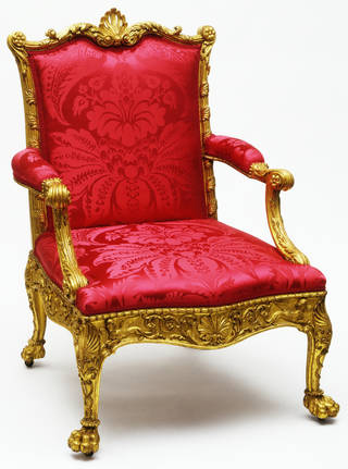 Photo of Armchair, Robert Adam, 1764 – 65, London. Museum no. W.1-1937. © Victoria and Albert Museum, London