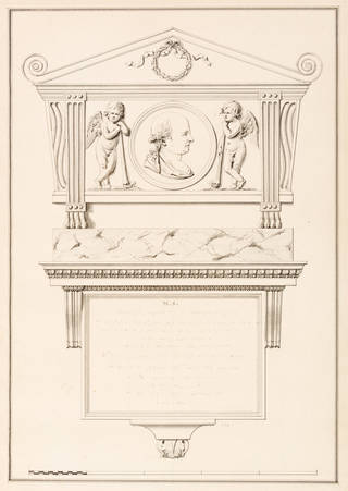 Photo of Design for a monument, James 'Athenian' Stuart, 18th century, England. Museum no. 8408:9. © Victoria and Albert Museum, London