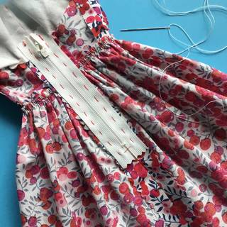 Couture Hand Sewing - Quarter Scale Dress  photo