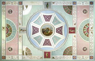 Adelphi ceiling, designed by Robert Adam, about 1771, London. Museum no. W.43:1 to 5-1936. © Victoria and Albert Museum, London