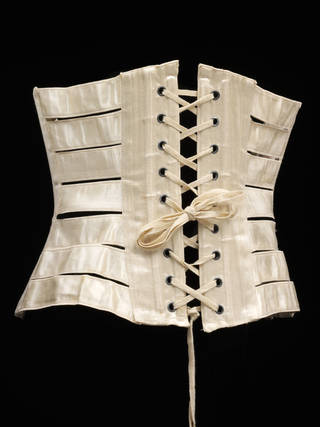 Ribbon corset, about 1895, England. Museum no. T.18-1958. © Victoria and Albert Museum, London