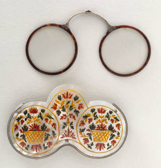 Photo of Spectacle case linked to James II and spectacles, unknown maker, probably France. Museum no. W.5 to B-1970. © Victoria and Albert Museum, London