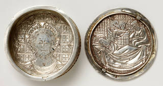 Photo of The Swinburne Pyx, about 1310 – 25, England, silver. Museum no. M.15&A-1950. © Victoria and Albert Museum, London