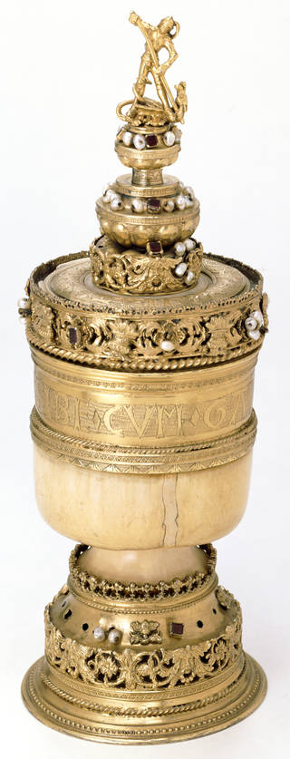 Photo of 'The Howard Grace Cup', 1525 – 26, London, silver and elephant ivory. Museum no. M.2680:1, 2-1931. © Victoria and Albert Museum, London