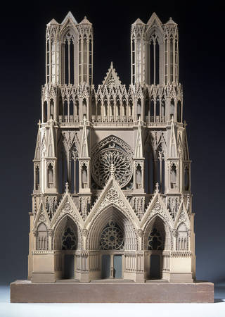 Model of The West Front of Notre Dame Cathedral, Reims, possibly made by E.C. Hakewill, 1840, England. Museum no. MISC.3-1928. © Victoria and Albert Museum, London