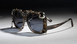 Sloanes to a Punk Party, plastic and metal sunglasses, Oliver Goldsmith Eyewear, about 1985, England. Museum no. T.245B-1990. © Victoria and Albert Museum, London