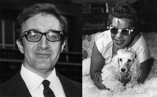 (Left): Actor Peter Sellers wearing Oliver Goldsmith glasses, about 1967. (Right): Pianist Winifred Atwell wearing an Oliver Goldsmith design, 1964. © Oliver Goldsmith Eyewear