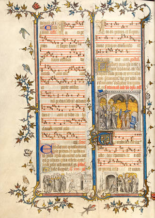 St Denis Missal, about 1350, Paris. Museum no. MSL/1891/1346, f. 256v. © Victoria and Albert Museum, London