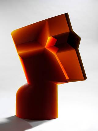 Cross Head, sculpture, Stanislav Libensky and Jaroslava Brychtová, designed 1988, made 1992, Czech Republic. Museum no. C.72-2014. © Victoria and Albert Museum, London