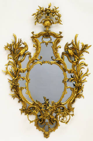 Photo of Mirror, Thomas Chippendale, 1762 – 65, London. Museum no. 2388-1855. © Victoria and Albert Museum, London