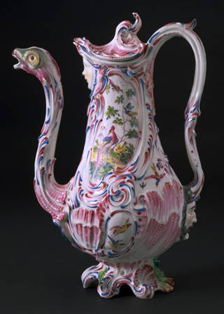 Photo of Coffee pot, Bow Porcelain Factory, about 1760, London. Museum no. C.231:1, 2-1993. © Victoria and Albert Museum, London