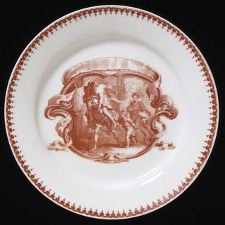 Photo of Plate, Bow Porcelain Factory, about 1756, London. Museum no. C.217-1940. © Victoria and Albert Museum, London