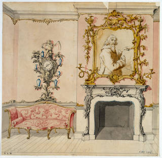 Design for a rococo interior, by John Linnell, about 1755, England. Museum no. E.263-1929. © Victoria and Albert Museum, London