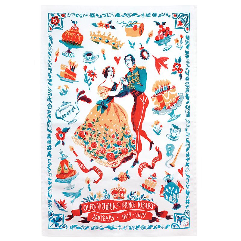 Victoria & Albert 200 years tea towel