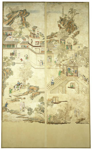 Photo of Wallpaper, unknown maker, 1720 – 50, Guangzhou, China. Museum no. E.412-1924. © Victoria and Albert Museum, London
