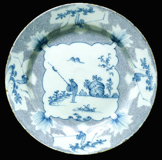Photo of Plate, made by Thomas Cantle, about 1754, probably Bristol, England. Museum no. C.78-1965. © Victoria and Albert Museum, London