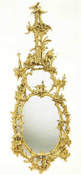 Photo of Mirror, designed by Thomas Johnson, 1750 – 60, London. Museum no. W.23-1949. © Victoria and Albert Museum, London