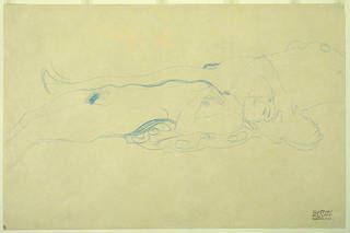 Drawing of two female nudes, Gustav Klimt, about 1910, Austria. Museum no. E.1083-1966. © Victoria and Albert Museum, London