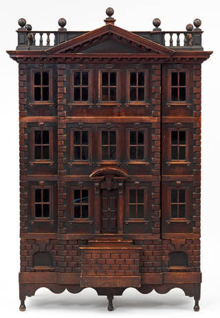 Photo of The Forster Baby House, palladian-style dolls house, unknown maker, 1720 – 30, England. Museum no. B.38-2017. © Victoria and Albert Museum, London