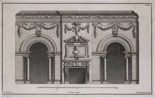Photo of 'The Designs of Inigo Jones and others', plate 38, designed by William Kent, 1743, London, England. Museum no. 20603:5. © Victoria and Albert Museum, London