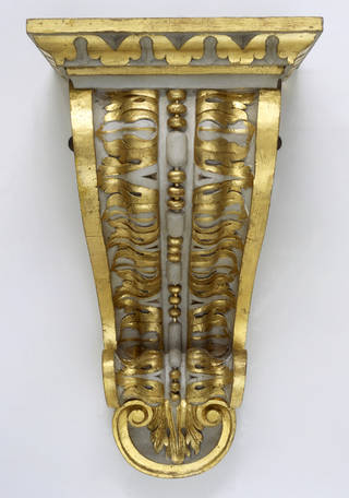Photo of Bracket of painted and gilded wood, possibly designed by Richard Boyle or William Kent, about 1730, London, England. Museum no. W.1-1988. © Victoria and Albert Museum, London