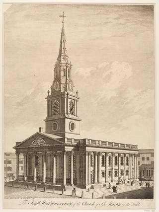 Photo of Engraving, St Martin's-in-the-Fields, by William Henry Toms after Robert West, 1738, England. Museum no. E.1688-1888. © Victoria and Albert Museum, London