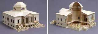 Architectural model of Lord Burlington's villa at Chiswick, designed and made by George Rome-Innes, 2001, London. Museum no. E.3838-2004. © Victoria and Albert Museum, London