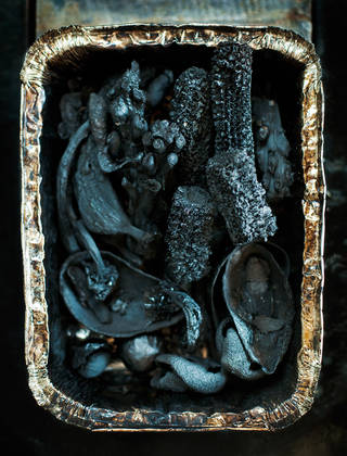 Carbonised non-edible food waste used for creating Food Waste Ware, 2013. Photograph by Masami Naruo.