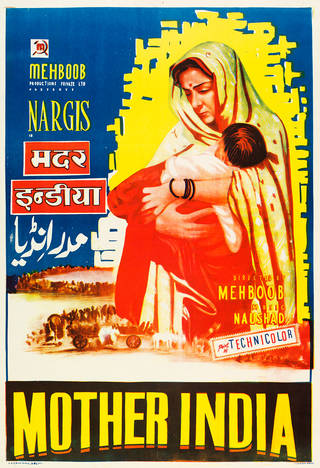 Mother India (1957), film poster, designed by Gulati Arts, about 1957, India. Museum no. IS.100-1986. © Victoria and Albert Museum, London