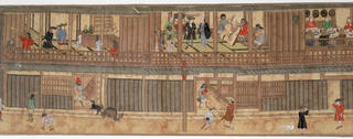 Hand-scroll depicting the Dutch factory at Dejima (detail), maker unknown, about 1800, Nagasaki, Japan. Museum no. D.151-1905. © Victoria and Albert Museum, London