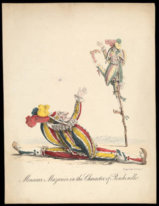 Print depicting Monsieur Mazurier in the character of Punchinello, 19th century, London. Museum no. S.3224-2009. © Victoria and Albert Museum, London