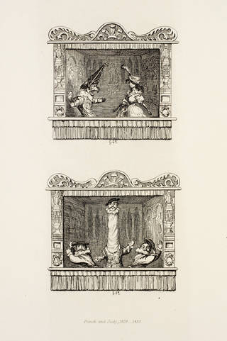 Illustration proofs for the 4th edition of 'The Tragical Comedy, or Comical Tragedy of Punch & Judy', by George Cruikshank, about 1859, London. Museum no. S.929-2010. © Victoria and Albert Museum, London