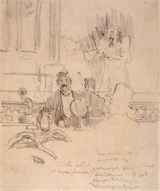 The Old Bedford, drawing by Walter Sickert, about 1890, London. Museum no. CIRC.87-1958. © Victoria and Albert Museum, London