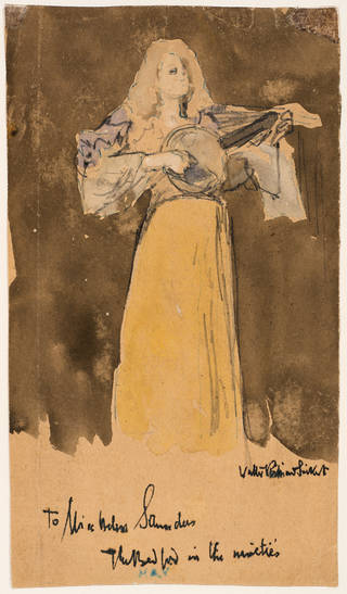 Vesta Victoria on the stage at the Old Bedford, Camden Town, London, by Walter Sickert, 1890s, London. Museum no. E.2477-1966. © Victoria and Albert Museum, London
