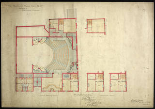 Plan for the new Bedford Music Hall, Bertie Crewe, 1898, London. Museum no. THM/335/1/1/2, © Victoria and Albert Museum, London