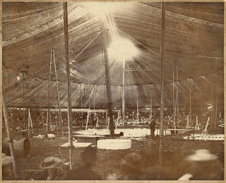 Interior of the tent at Sanger's Circus, photograph by A.M. Bliss & Co., late 19th century, Britain. Museum no. S.114-2018. © Victoria and Albert Museum, London